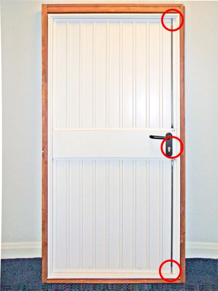 3 point security locking garage door