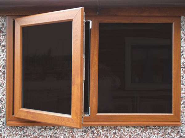 4ft golden oak PCVu fixed or opening window