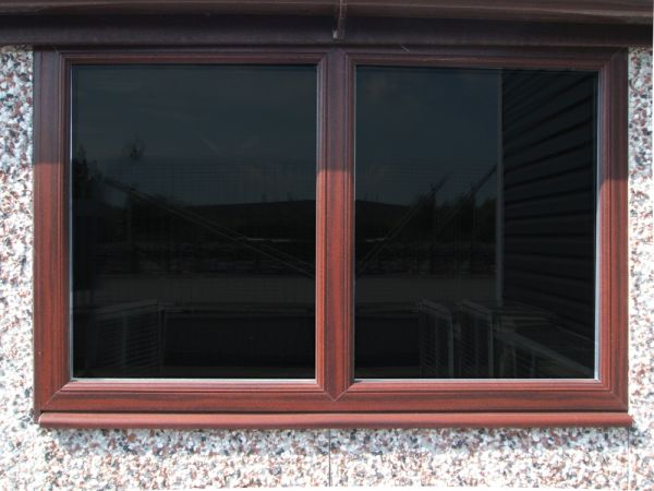 4ft rosewood PVCu fixed or opening window