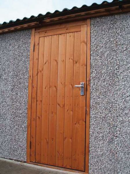 Deluxe timber personnel garage door