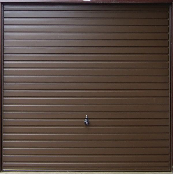Horizontal garage door brown