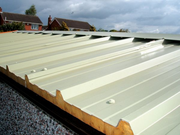 Plastic coated steel garage roof