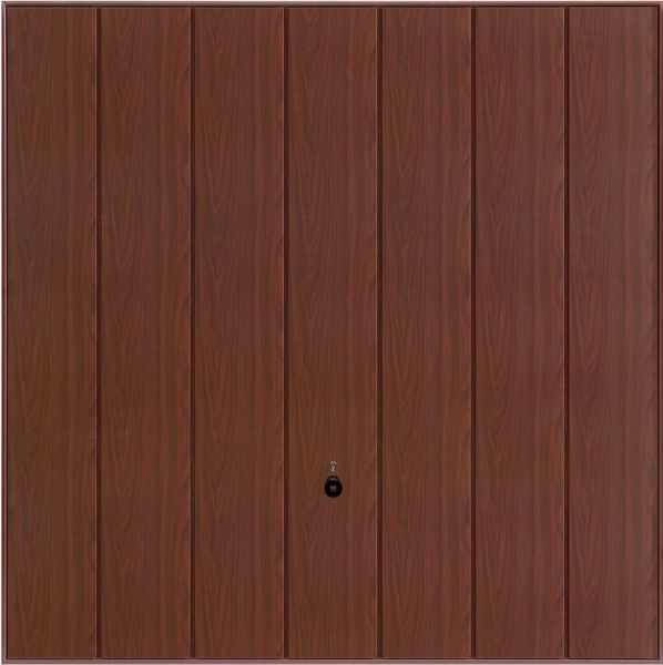 Vertical rosewood garage door