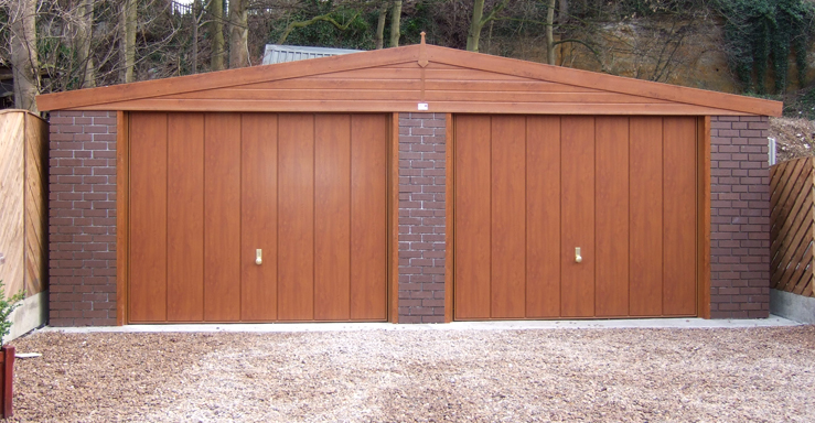 Brick effect garages