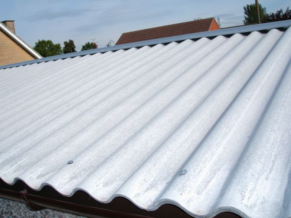 Grey cement garage roof