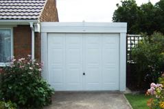 Lean-to concrete garage