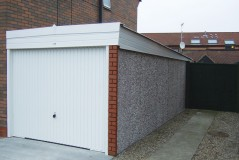 Lean-to concrete garage