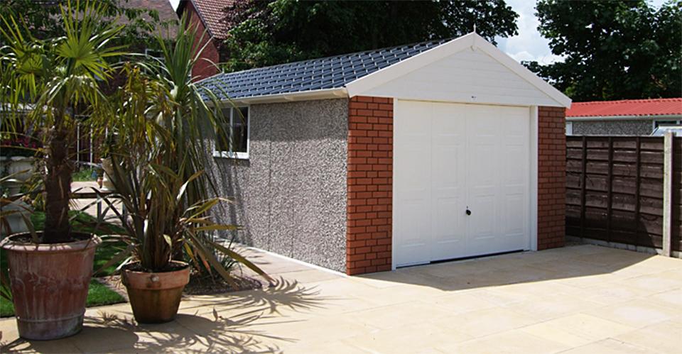 Pre-fab concrete garages
