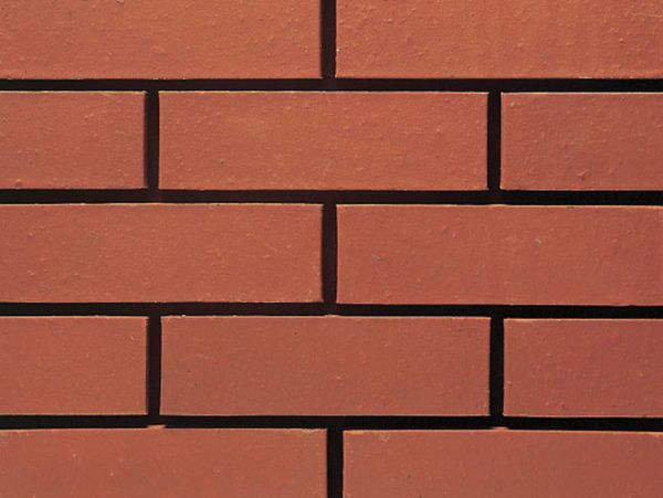 Red smooth brick cladding