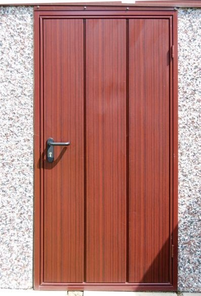 Rosewood & Golden Oak garage personnel door