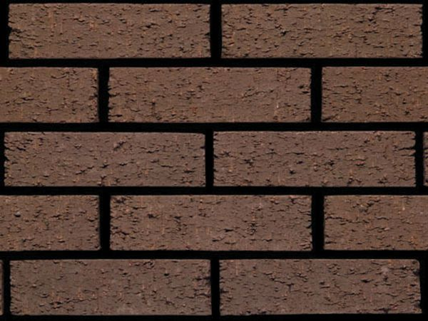 Rustic brown brick cladding