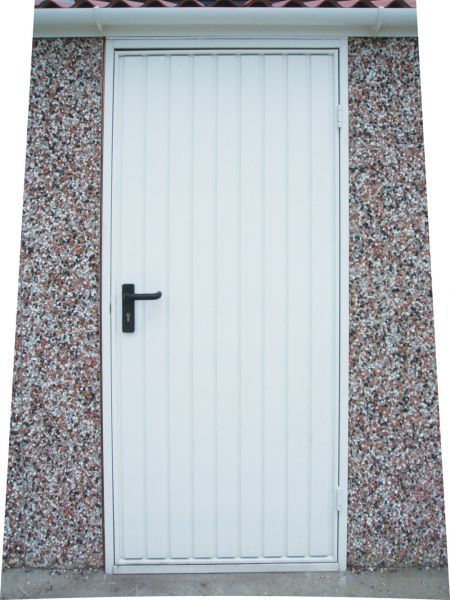 Steel vertical garage personnel door