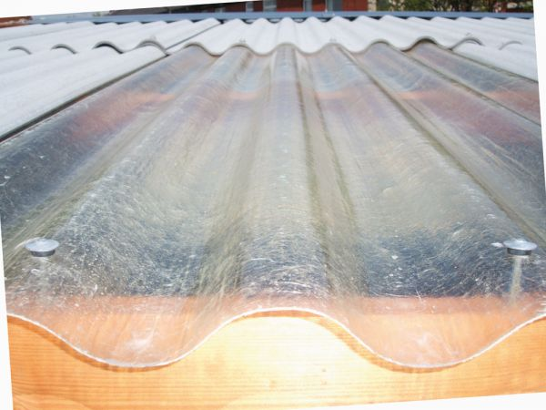 Translucent sheet garage roof