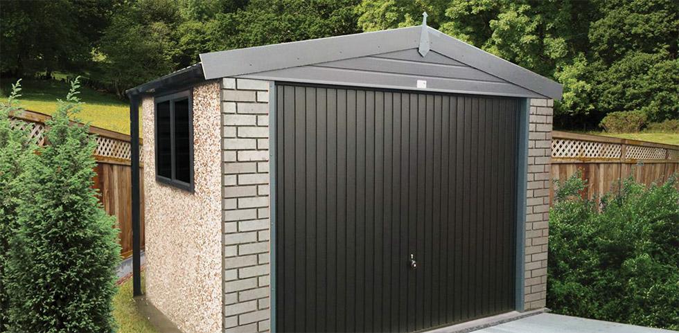 The new Graphite pre-fab concrete garage